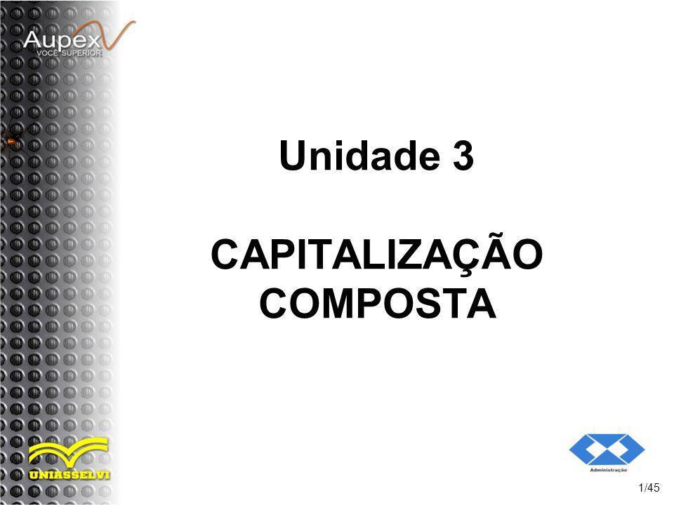 Unidade 3 CAPITALIZAÇÃO COMPOSTA