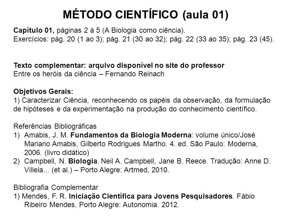 MÉTODO CIENTÍFICO (aula 01)