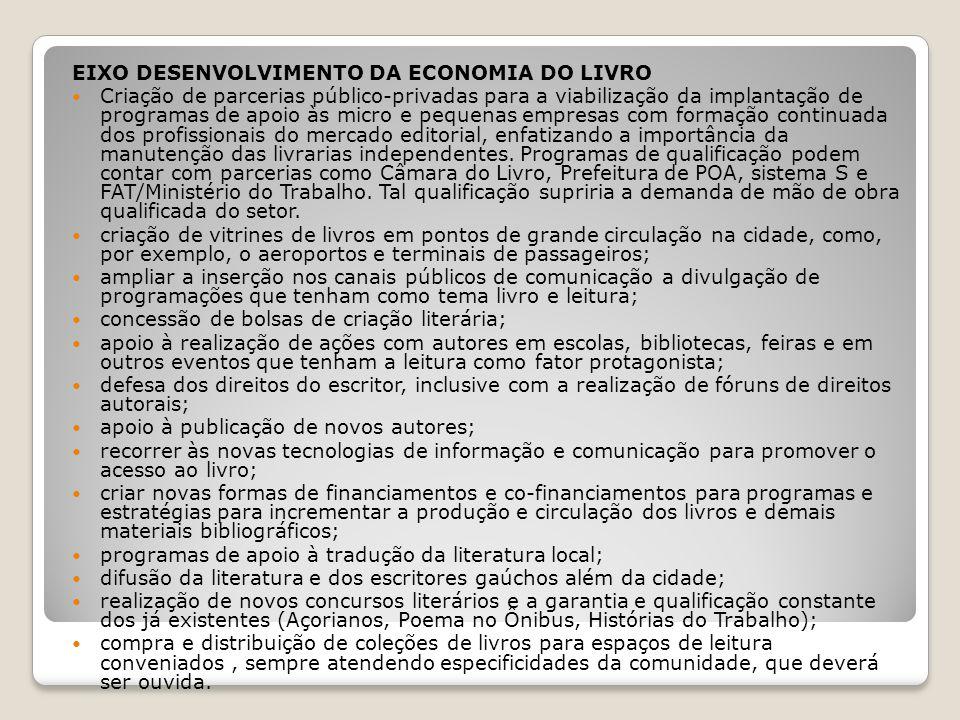 EIXO DESENVOLVIMENTO DA ECONOMIA DO LIVRO