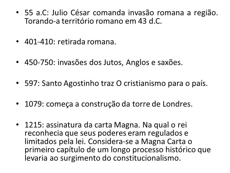 55 a. C: Julio César comanda invasão romana a região
