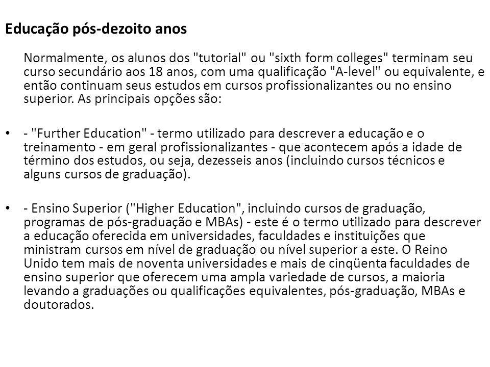 Educação pós-dezoito anos