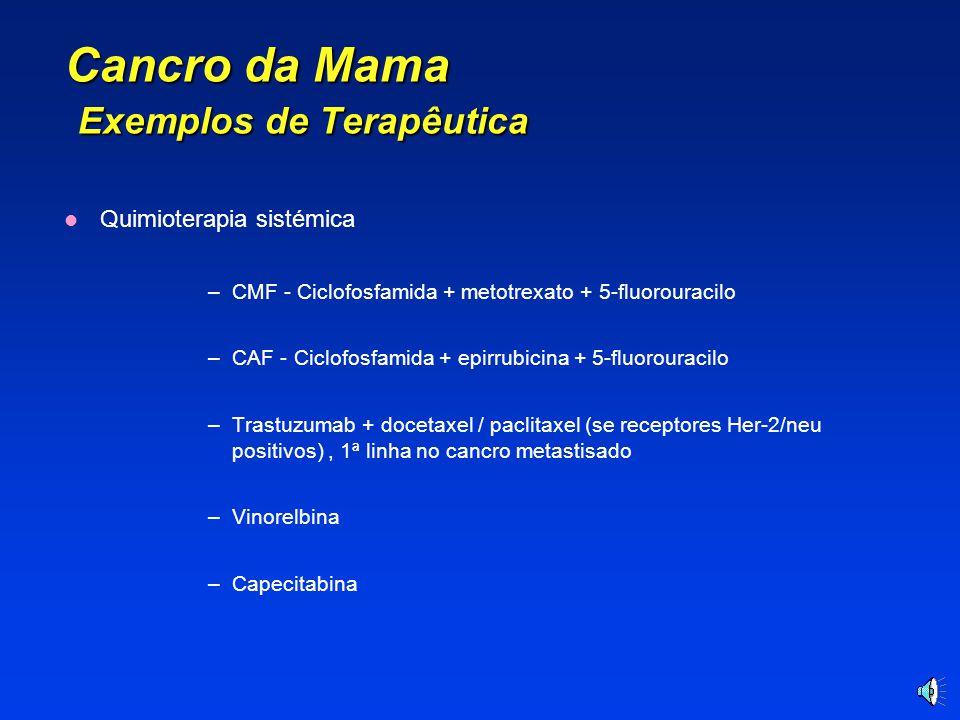 Cancro da Mama Exemplos de Terapêutica