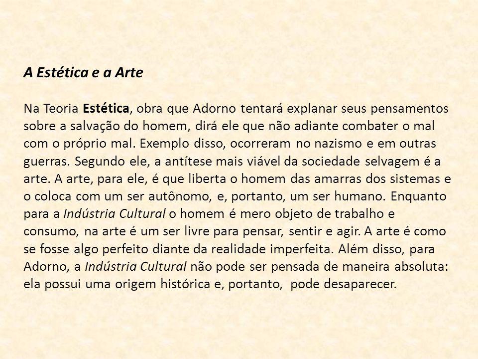 A Estética e a Arte