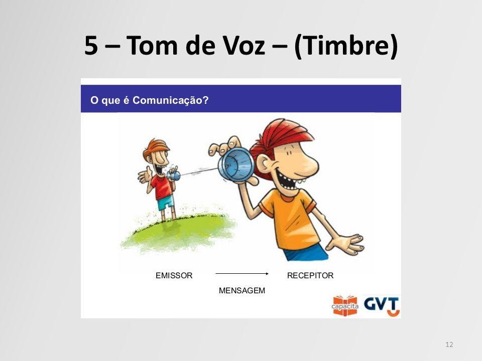 5 – Tom de Voz – (Timbre)