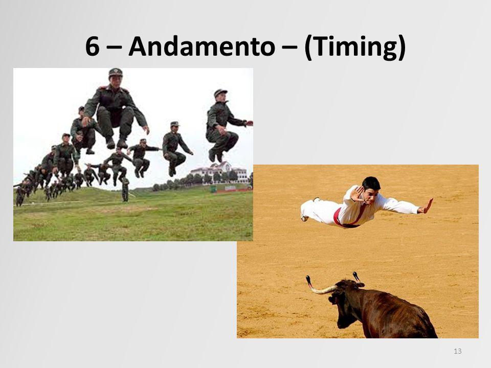 6 – Andamento – (Timing)