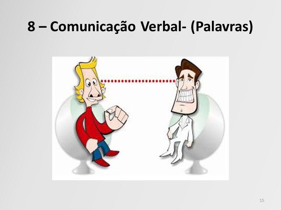 8 – Comunicação Verbal- (Palavras)