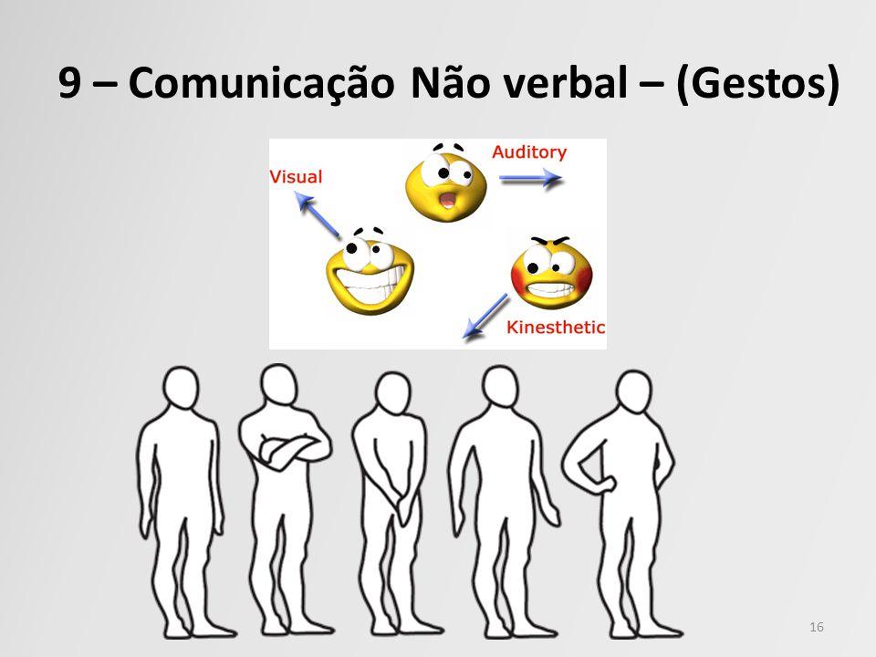 9 – Comunicação Não verbal – (Gestos)