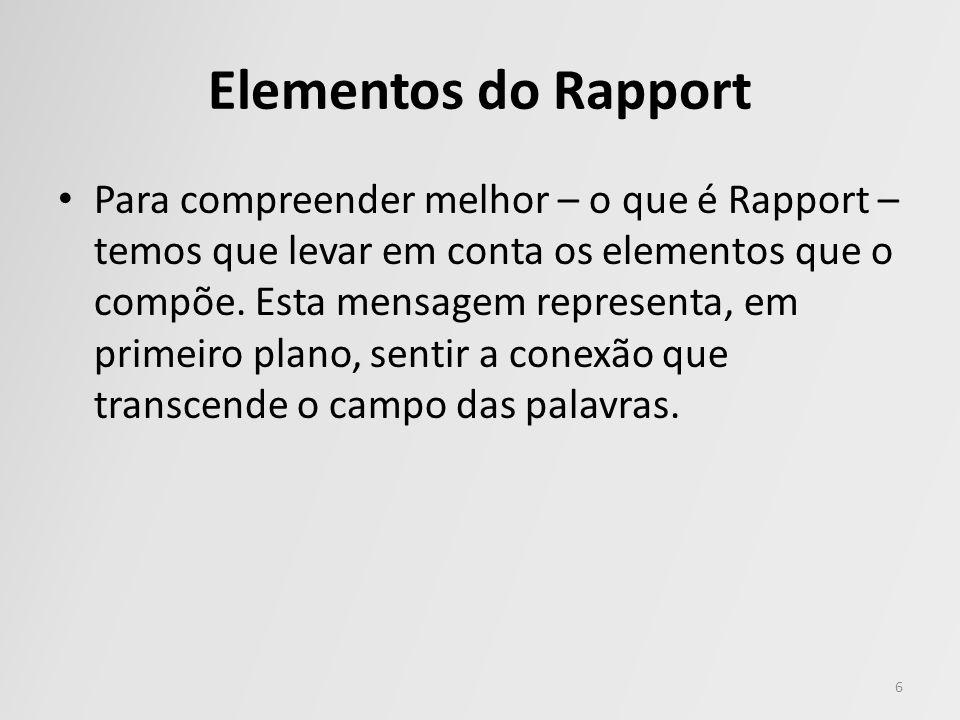 Elementos do Rapport