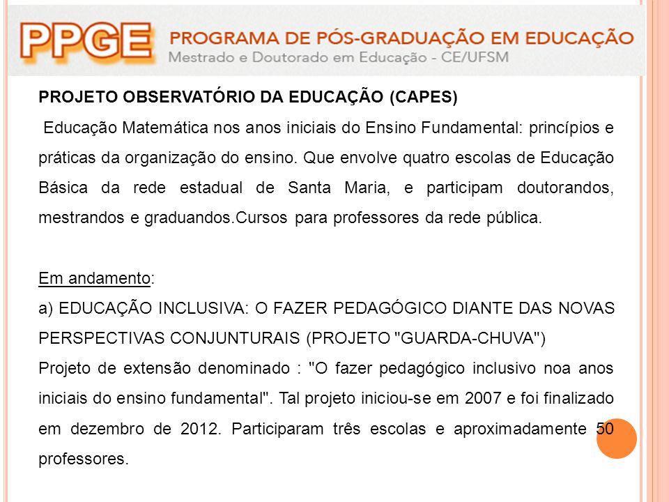 PROJETO OBSERVATÓRIO DA EDUCAÇÃO (CAPES)