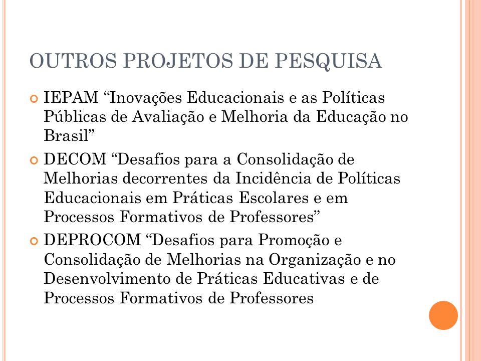 OUTROS PROJETOS DE PESQUISA