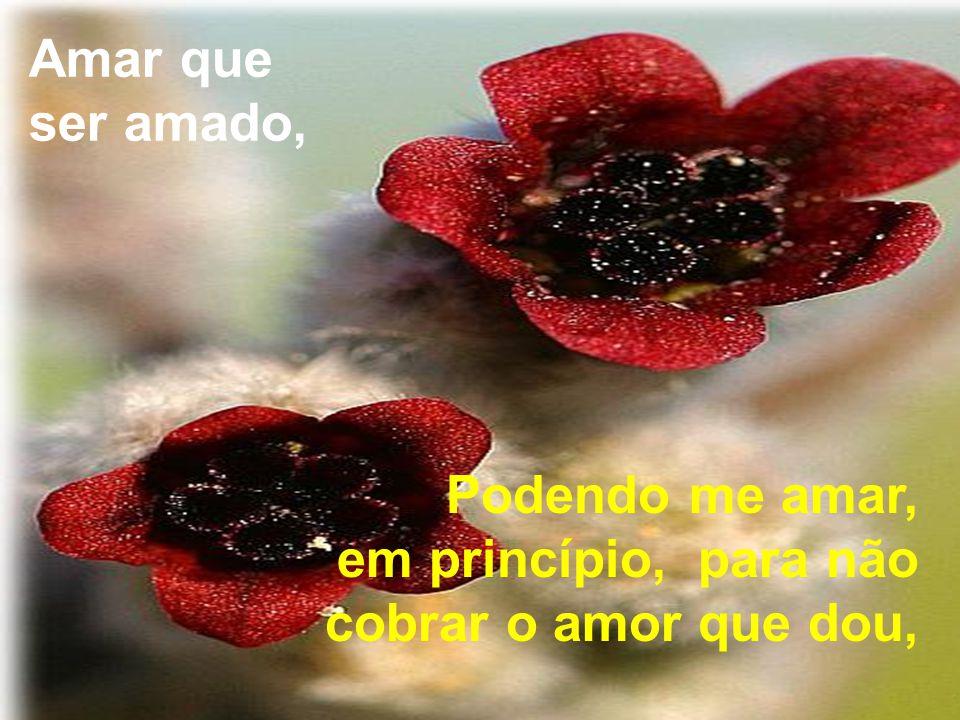 Amar que ser amado, Podendo me amar, em princípio, para não cobrar o amor que dou,