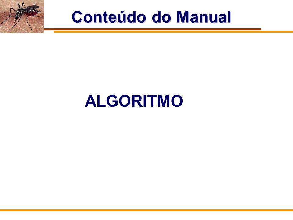 Conteúdo do Manual ALGORITMO