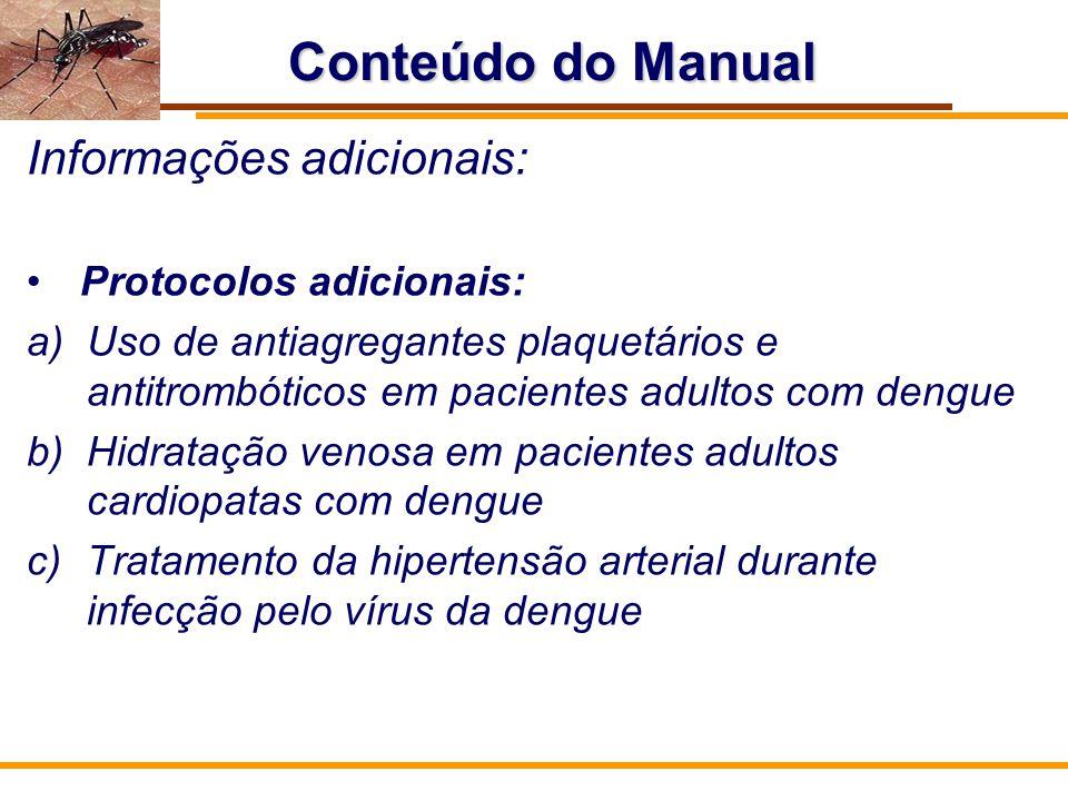 Conteúdo do Manual Informações adicionais: Protocolos adicionais: