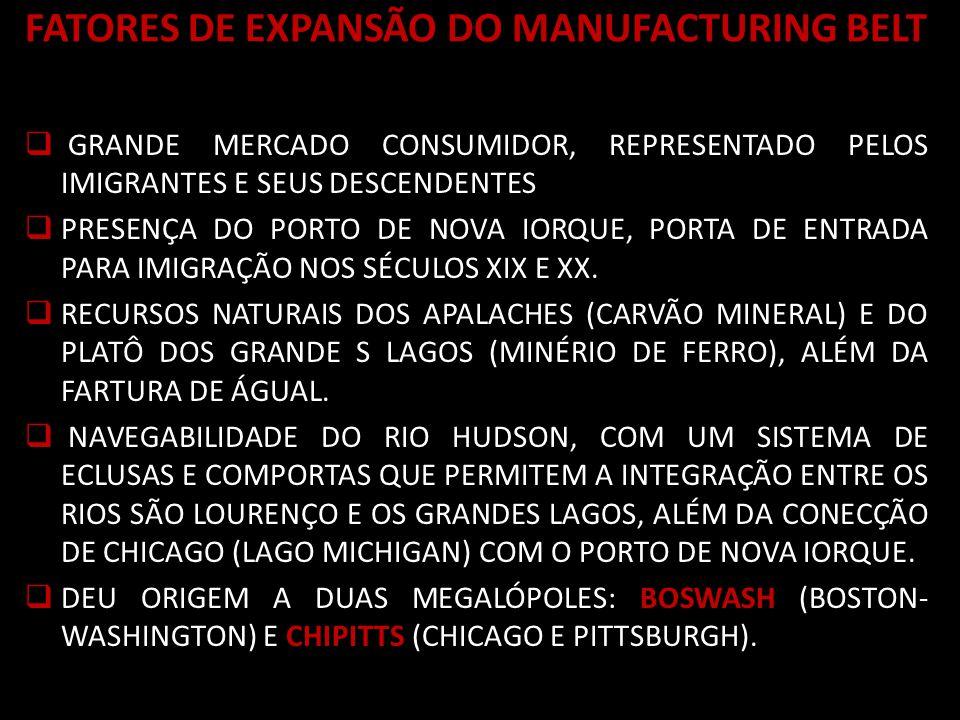 FATORES DE EXPANSÃO DO MANUFACTURING BELT