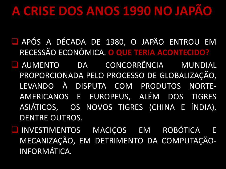A CRISE DOS ANOS 1990 NO JAPÃO
