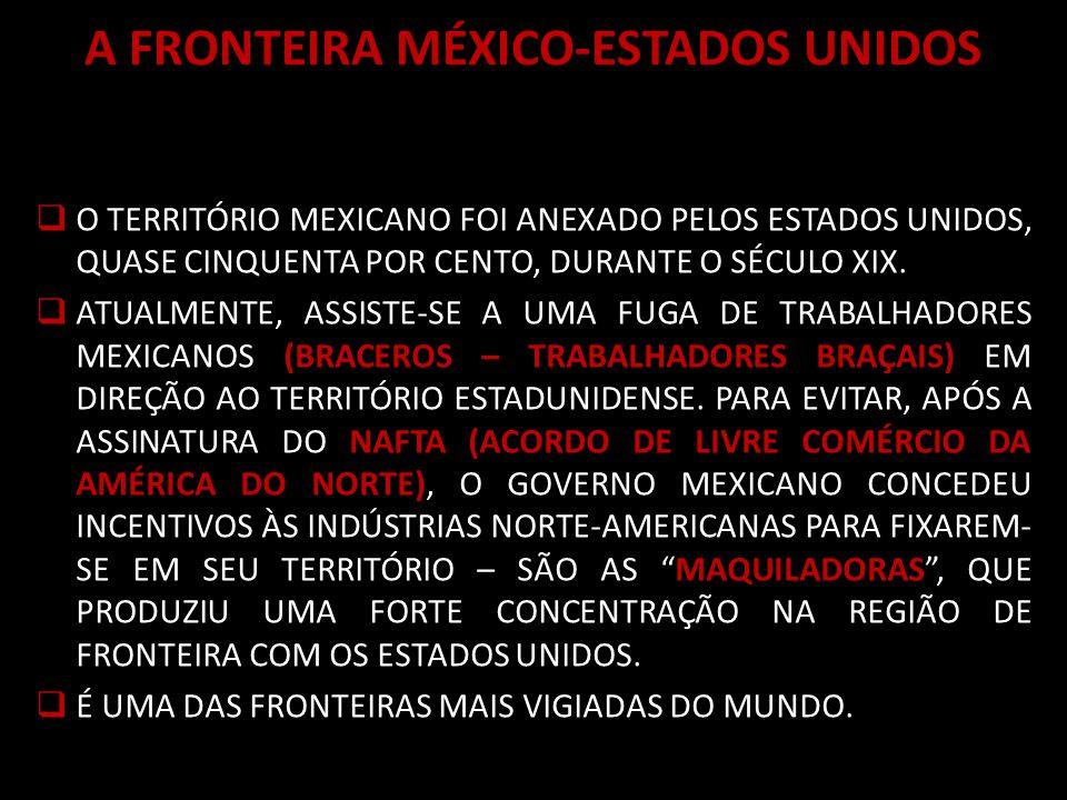 A FRONTEIRA MÉXICO-ESTADOS UNIDOS