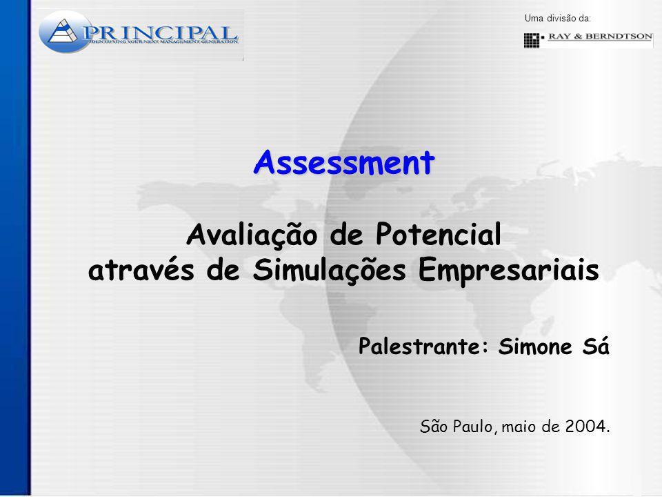 Assessment Avaliação de Potencial através de Simulações Empresariais