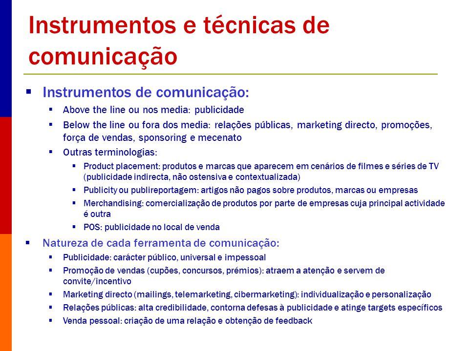 Instrumentos e técnicas de comunicação