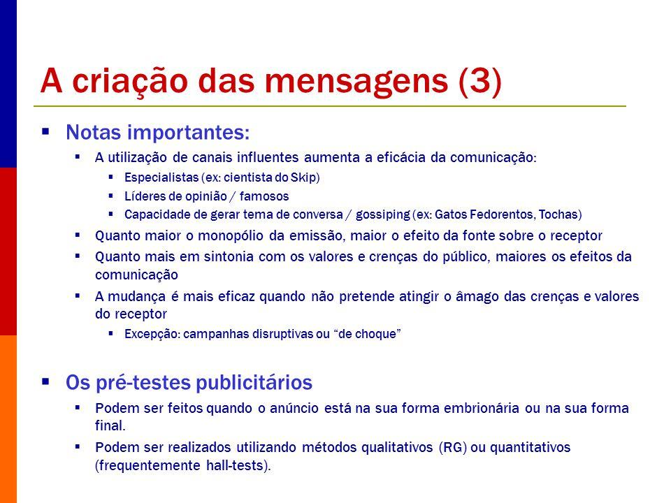 A criação das mensagens (3)