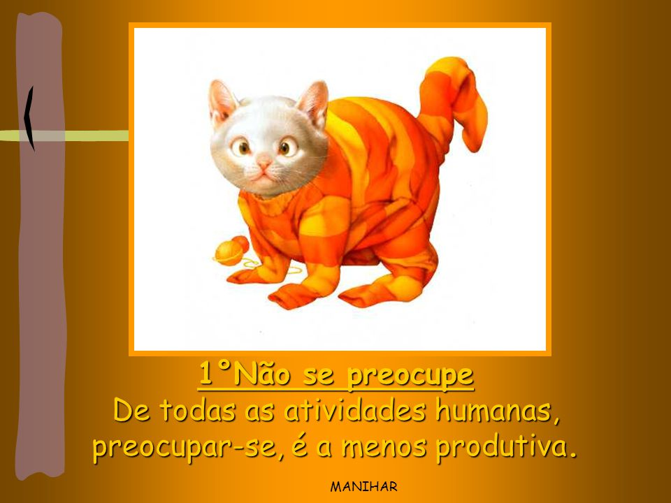 De todas as atividades humanas, preocupar-se, é a menos produtiva.