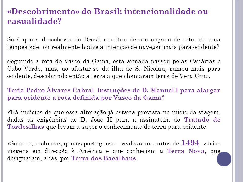 «Descobrimento» do Brasil: intencionalidade ou casualidade