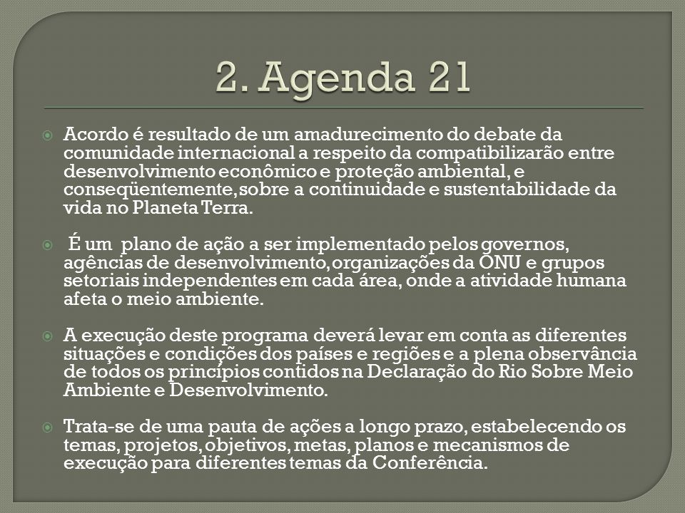 2. Agenda 21