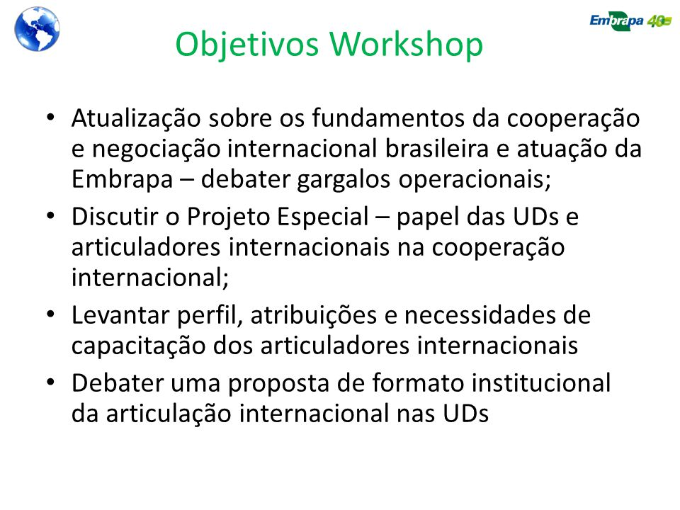 Objetivos Workshop