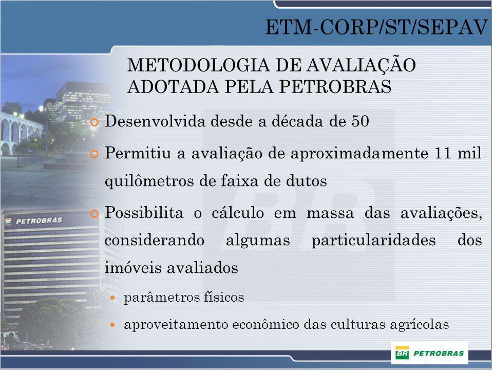 METODOLOGIA DE AVALIAÇÃO ADOTADA PELA PETROBRAS