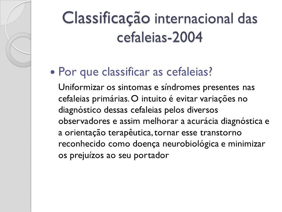 Classificação internacional das cefaleias-2004