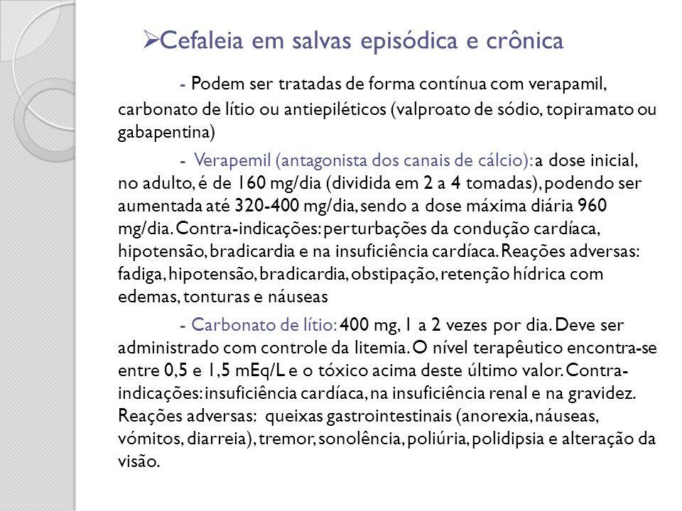 Cefaleia em salvas episódica e crônica