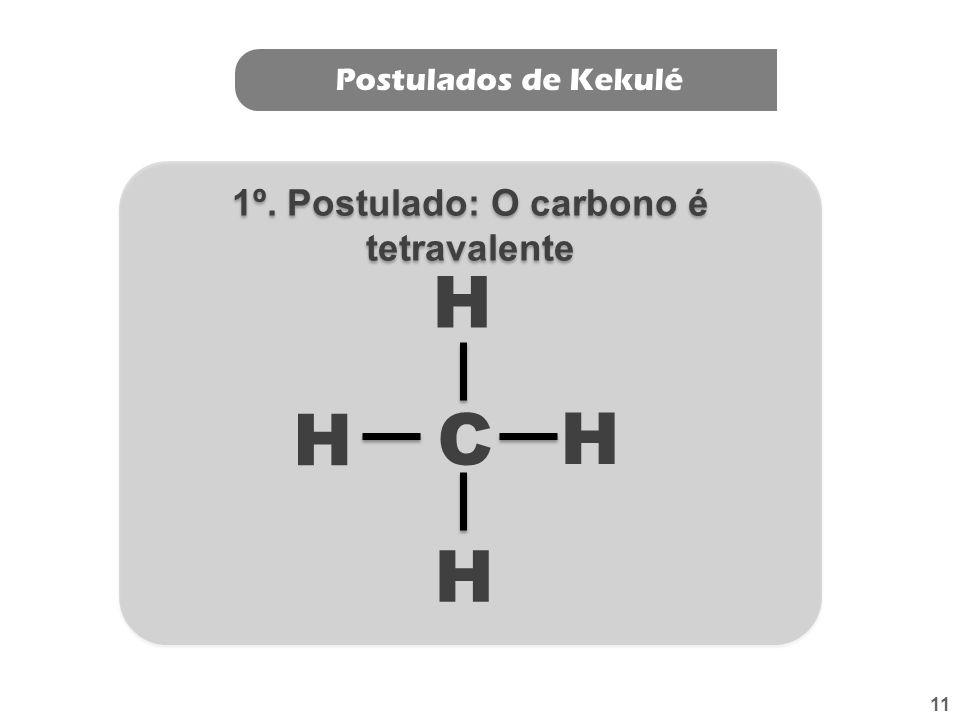 1º. Postulado: O carbono é tetravalente