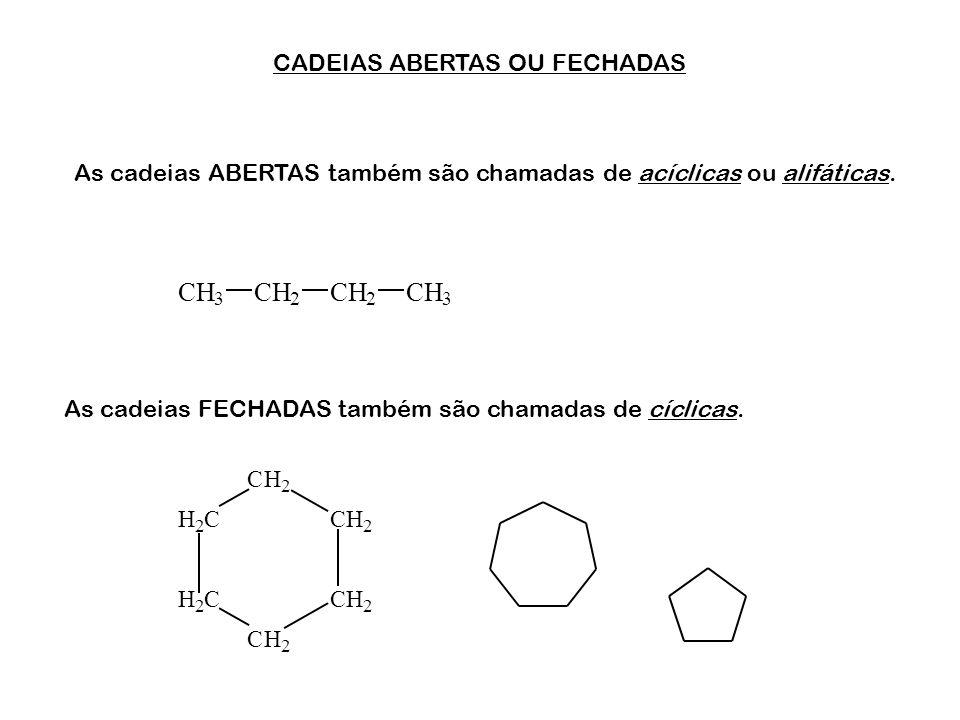 CADEIAS ABERTAS OU FECHADAS