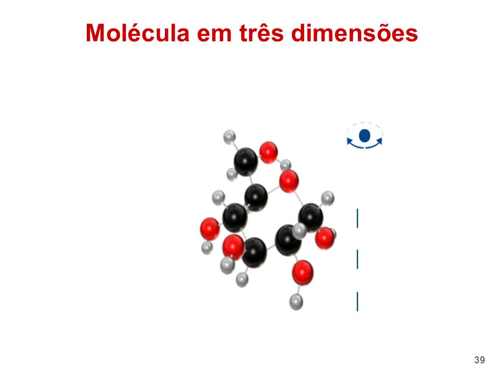 Molécula em três dimensões