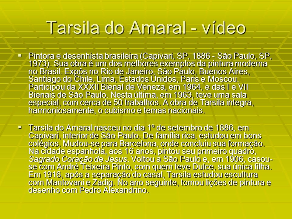 Tarsila do Amaral - vídeo