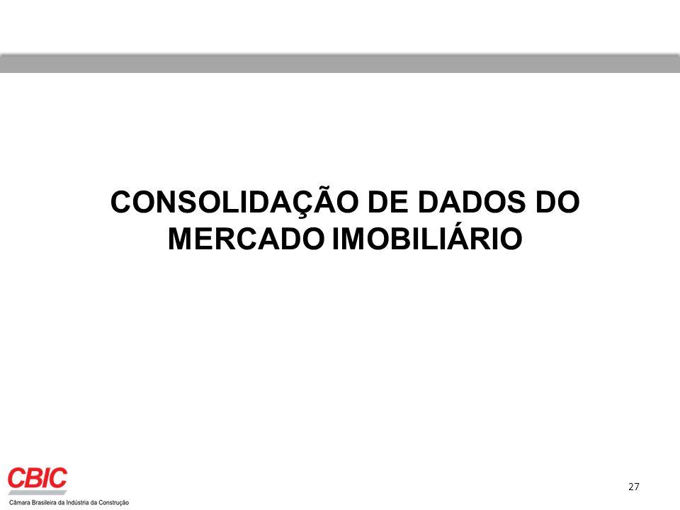 CONSOLIDAÇÃO DE DADOS DO MERCADO IMOBILIÁRIO