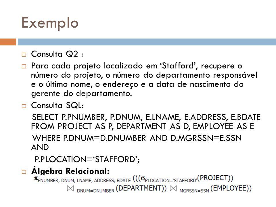 Exemplo Consulta Q2 :