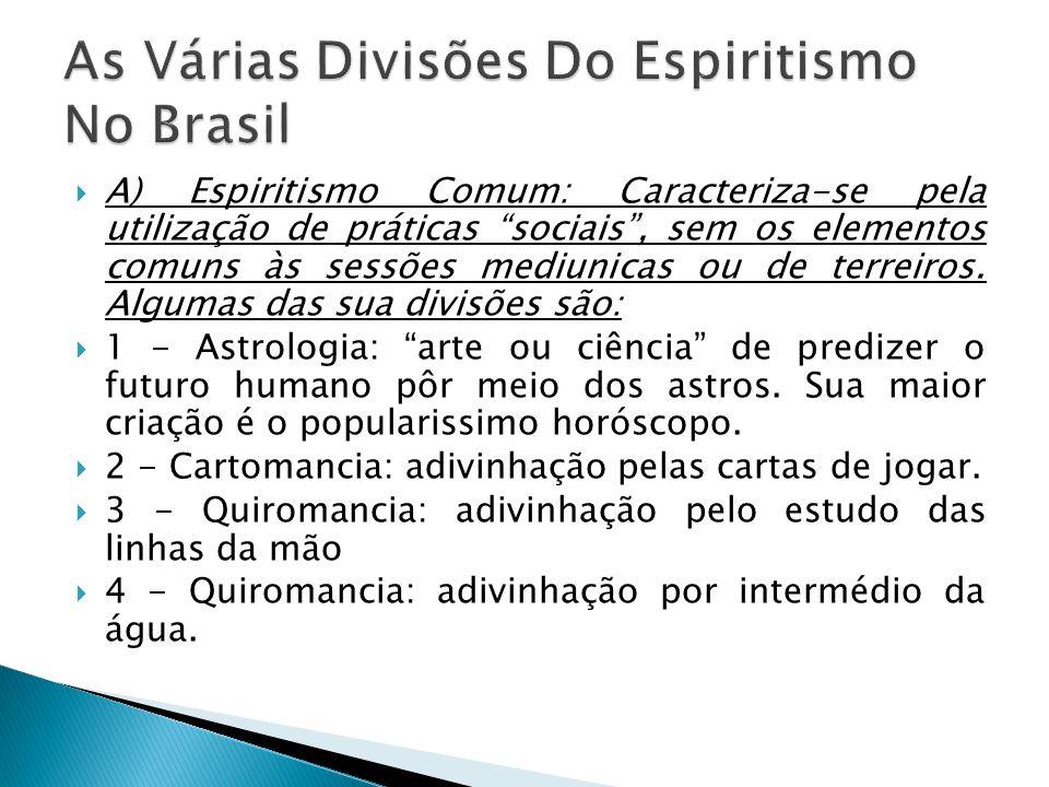 As Várias Divisões Do Espiritismo No Brasil