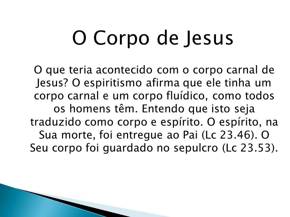 O Corpo de Jesus O que teria acontecido com o corpo carnal de Jesus