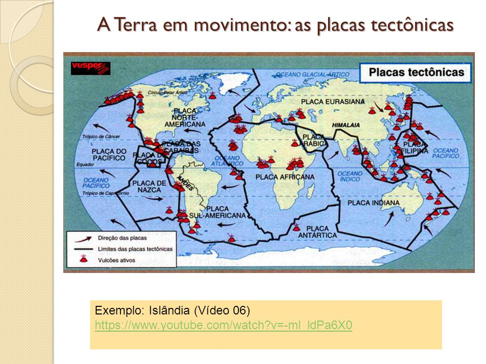 A Terra em movimento: as placas tectônicas