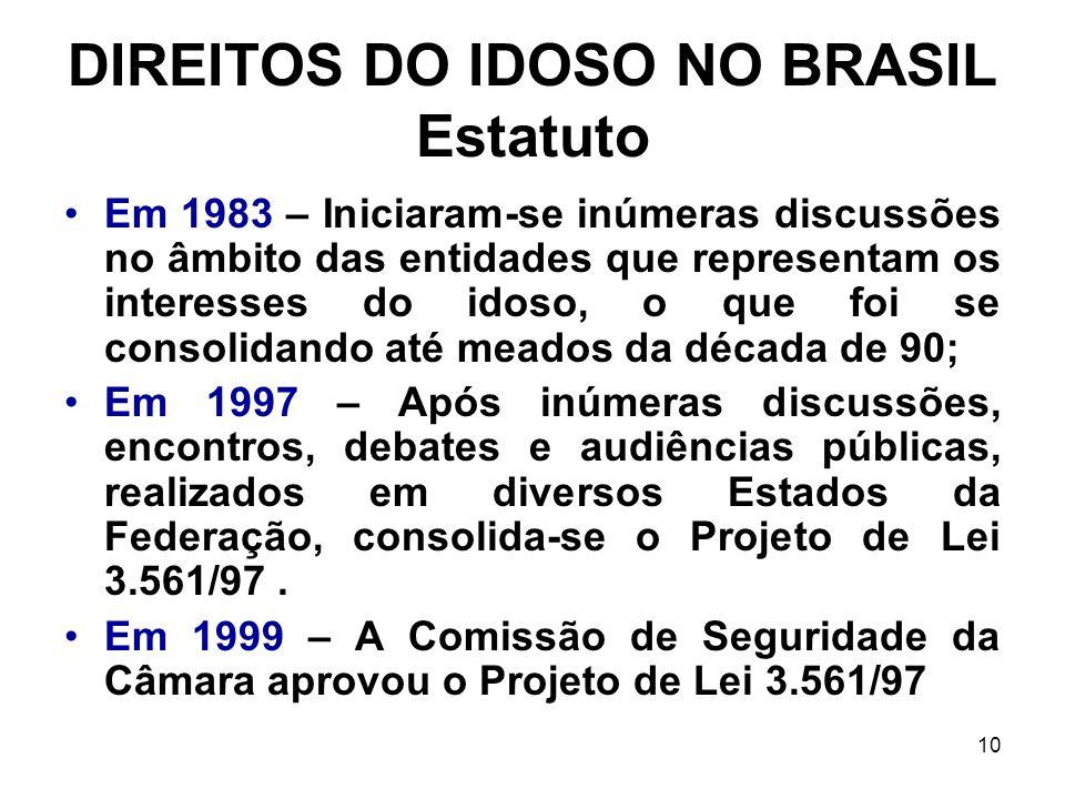 DIREITOS DO IDOSO NO BRASIL Estatuto