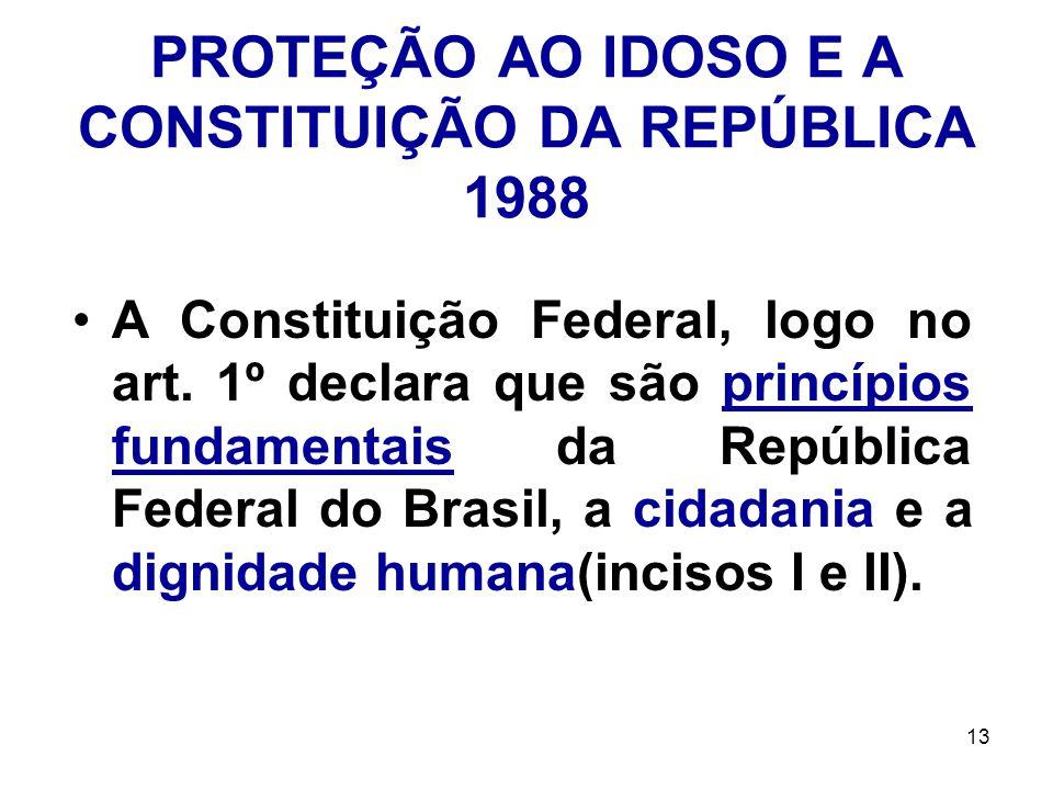 PROTEÇÃO AO IDOSO E A CONSTITUIÇÃO DA REPÚBLICA 1988
