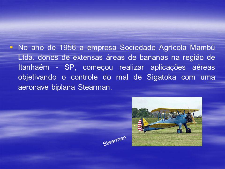 No ano de 1956 a empresa Sociedade Agrícola Mambú Ltda
