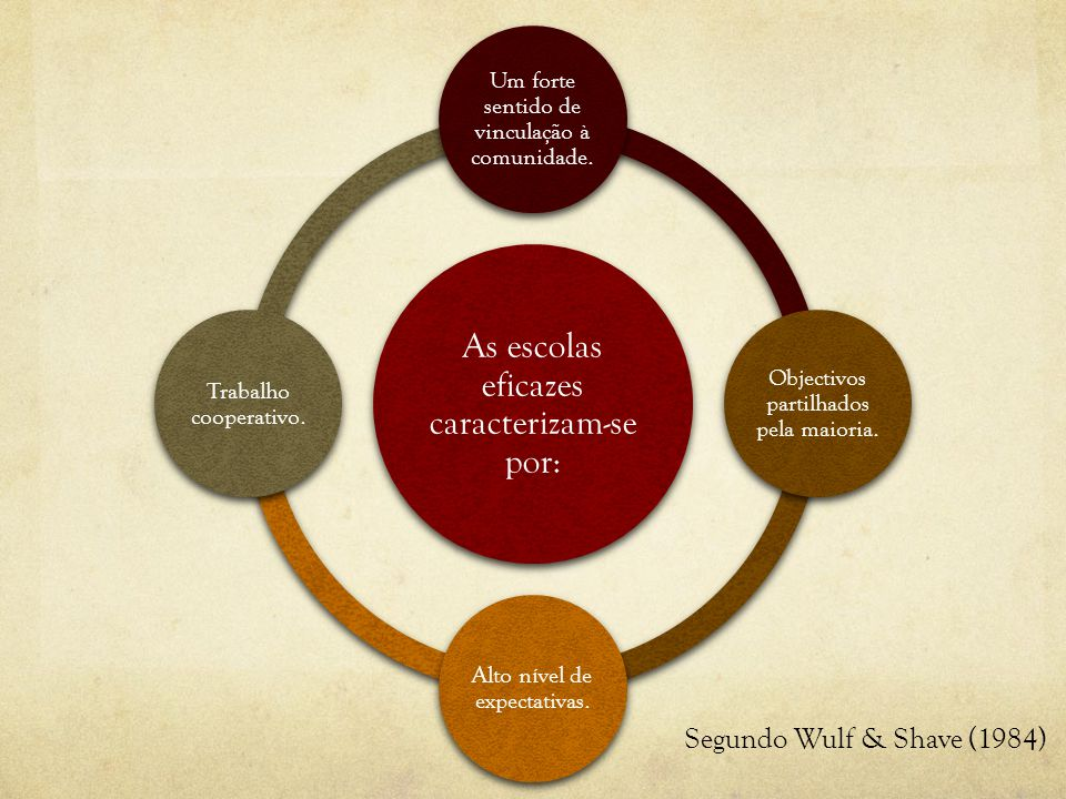 As escolas eficazes caracterizam-se por: