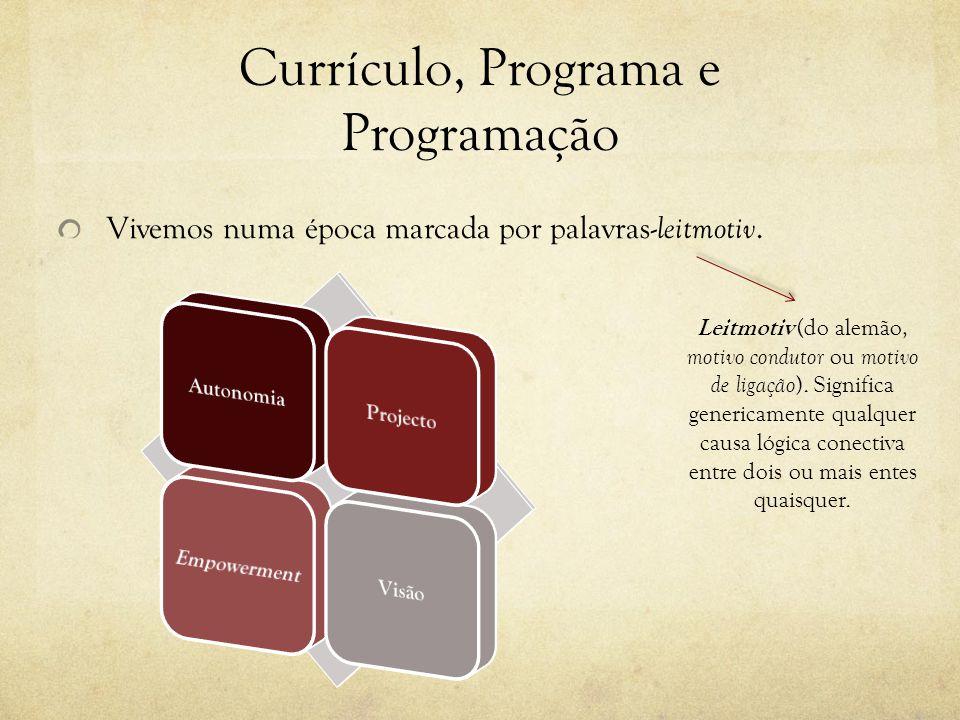 Currículo, Programa e Programação