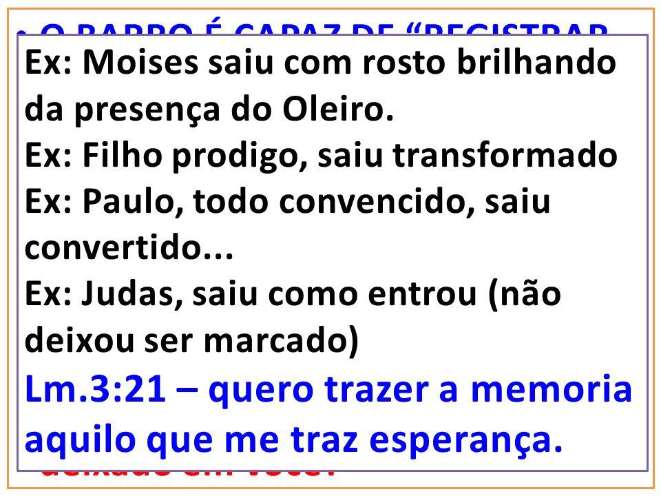 Lm.3:21 – quero trazer a memoria aquilo que me traz esperança.
