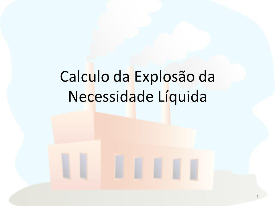 Calculo da Explosão da Necessidade Líquida