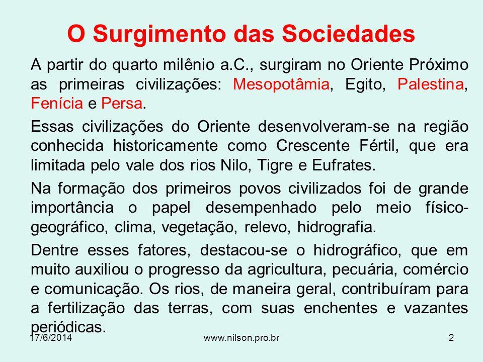 O Surgimento das Sociedades
