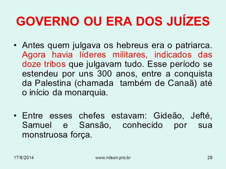 GOVERNO OU ERA DOS JUÍZES