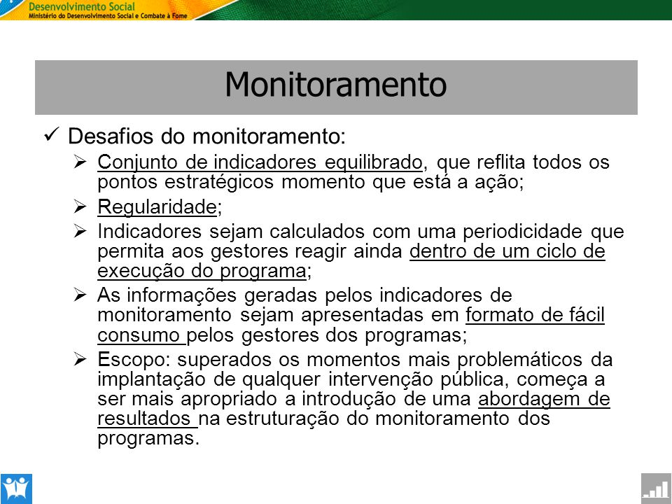 Monitoramento Desafios do monitoramento: