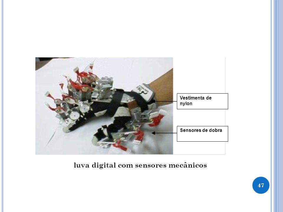luva digital com sensores mecânicos